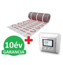 U-HEAT fűtőszőnyeg 1 m2 =  150 W + U-HEAT K12 Digitális óratermosztát padlóhőmérséklet szenzorral