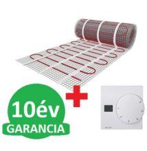U-HEAT fűtőszőnyeg 3 m2 = 450 W + U-HEAT Manuális fali termosztát padlóhőmérséklet szenzorral szettben