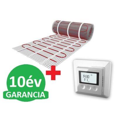 U-HEAT fűtőszőnyeg 10 m2 = 1500 W + U-HEAT K12 Digitális óratermosztát padlóhőmérséklet szenzorral