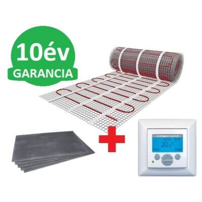 1,5 m2 U-HEAT fűtőszőnyeg + 1,8 m2 U-HEAT polisztirol szigetelő lap + MAGNUM Intelligent Control digitális fali termosztát szett