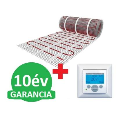U-HEAT fűtőszőnyeg 9 m2 =  1350 W + U-HEAT  Intelligent Control Digitális óratermosztát padlóhőmérséklet szenzorral