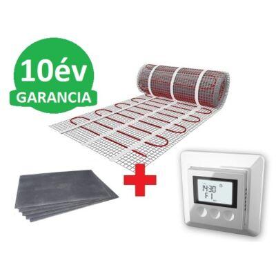 10 m2 U-HEAT fűtőszőnyeg +  10,2 m2 U-HEAT polisztirol szigetelő lap + U-HEAT K12 digitális fali termosztát szett