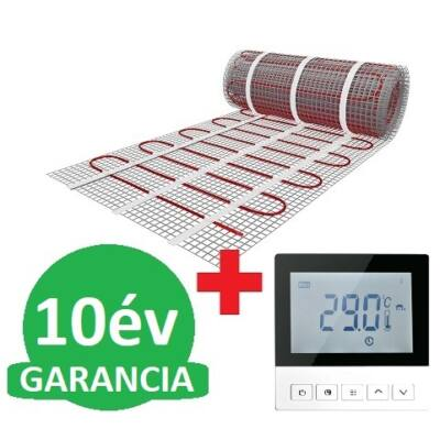 U-HEAT fűtőszőnyeg 5 m2 = 750 W + Wi-Fi Control Digitális óratermosztát padlóhőmérséklet szenzorral