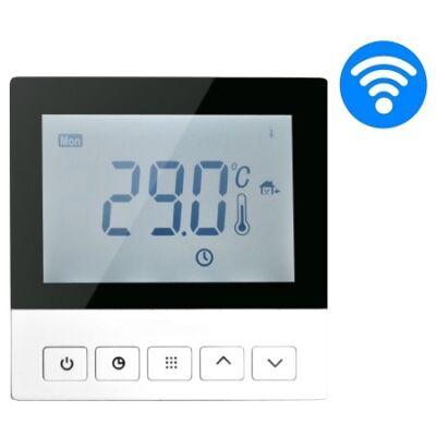 Wi-Fi Control Digitális óratermosztát szobahőmérséklet és padlóhőmérséklet szenzorral